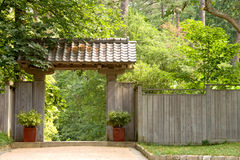 Japanese Pagoda Garden Gate Royalty Free Stock Image