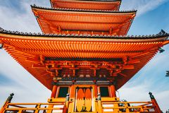 Japanese Pagoda in Kyoto, Japan detail photography Royalty Free Stock Photography