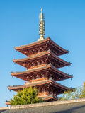 Japanese pagoda in temple Stock Photos