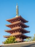 Japanese pagoda in temple Stock Photos