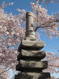 Japanese Pagoda at the Tidal Basin Stock Photo