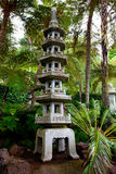 Japanese pagoda in tropical garden Royalty Free Stock Image
