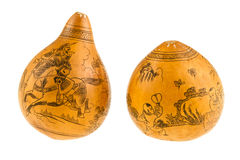 Japanese painted gourds Royalty Free Stock Images