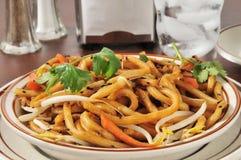 Japanese pan noodles closeup Stock Photo