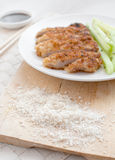 Japanese panko breadcrumbs for fried pork Stock Photos