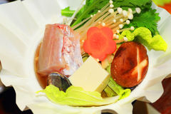 Japanese paper craft hot pot Stock Image