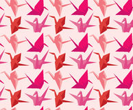 Japanese paper crane pattern Royalty Free Stock Images