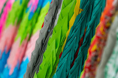 Japanese paper cranes Royalty Free Stock Photography