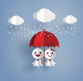 Japanese paper doll against rain,teruterubozu Royalty Free Stock Photos