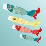 Japanese paper fish carp. Stock Photos
