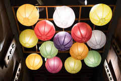 Japanese paper lantern decoration Stock Photo