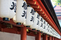 Japanese paper lanterns Stock Images