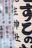 Japanese paper lanterns in Tokyo.  Stock Images
