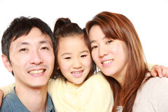 Japanese Parent And Daughter Stock Photo
