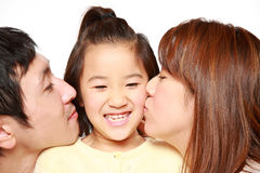 Japanese Parent And Daughter Royalty Free Stock Images