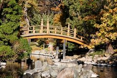Japanese Park. In the city of Wroclaw in Poland Stock Image