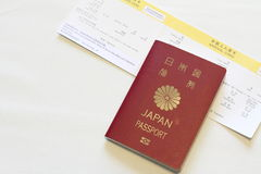 Japanese passport and immigration card Royalty Free Stock Photography