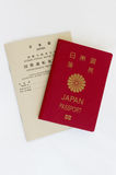 Japanese Passport and International Driver License.  Stock Photography