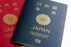 Japanese Passport Stock Images
