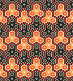 Japanese pattern. Classic japanese seamless pattern in bright warm colors Stock Photo