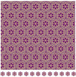 Japanese pattern. Calm colour Japanese pattern with flower Royalty Free Stock Images