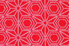 Japanese pattern of kimono Royalty Free Stock Photo