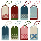 Japanese pattern label set Royalty Free Stock Images