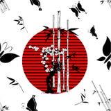 Japanese pattern nippon background bamboo Stock Photos