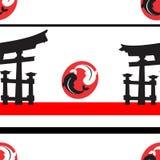 Japanese pattern nippon background fhish Stock Images