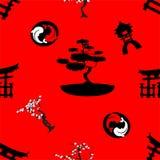 Japanese pattern nippon background tree Stock Photo