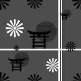 Japanese pattern nippon background 4 Royalty Free Stock Image