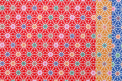 Japanese pattern origami paper. Traditional Japanese pattern origami paper, texture background Royalty Free Stock Photos