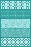 Japanese Patterns. A set of five Japanese seamless patterns. Background placed on a separate layer so color can be altered with ease Royalty Free Stock Images