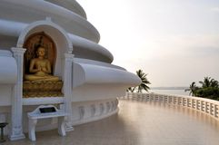 Japanese Peace Pagoda at Rumassala, Galle, Sri Stock Images