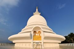 Japanese Peace Pagoda at Rumassala, Galle, Sri Royalty Free Stock Photography