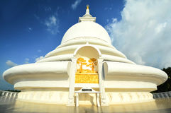 Japanese Peace Pagoda In Rumassala, Sri Lanka Stock Photo