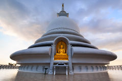 Japanese Peace Pagoda In Rumassala, Sri Lanka Stock Photography