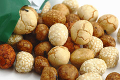 Japanese peanut crackres Royalty Free Stock Images