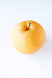 Japanese pear. On the white background Royalty Free Stock Photos