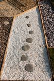 Japanese pebbles on the dust outdoor royalty free stock photography