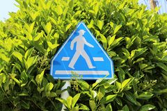 Japanese Pedestrian Crossing Street Sign Stock Photo