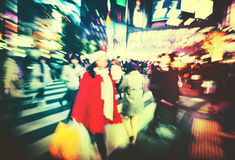Japanese People Crowd Walking Cross Street Concept Stock Photo