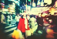Japanese People Crowd Walking Cross Street Concept Stock Photo
