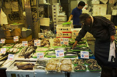 Japanese people sale food for people and travelers on street in royalty free stock images