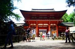 Japanese people and traveler foreigner walking to inside Kasuga Stock Images