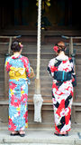 Japanese people wear traditional Japanese clothing Royalty Free Stock Photography