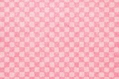 Japanese pink checkered pattern paper texture or vintage background royalty free stock image