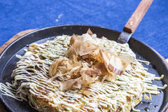 Japanese Pizza Okonomiyaki Stock Photos