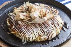 Japanese Pizza Okonomiyaki Royalty Free Stock Photos
