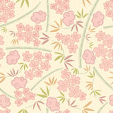 Japanese plants pattern Royalty Free Stock Images